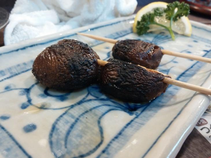Shiitake mushrooms, salt, real charcoal. Nothing else needed.